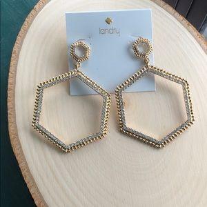 Kate Landry Hexagon Drop Earrings